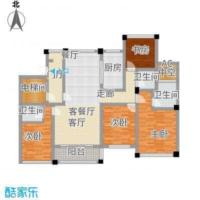 中梁天御里昂公馆户型4室1厅3卫1厨