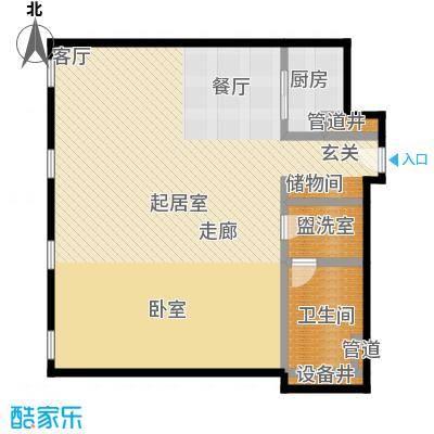 万国城MOMA102.00㎡G户型 一室一厅一卫户型1室1厅1卫