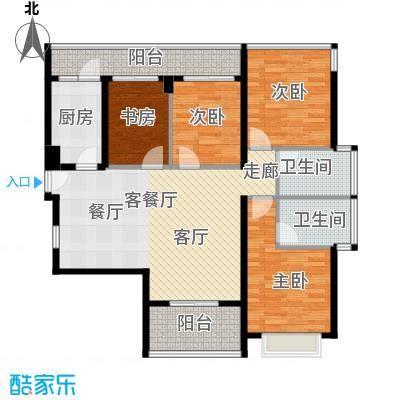 光明大第85.00㎡4栋A型4房2厅2卫-奇数层户型4室2厅2卫
