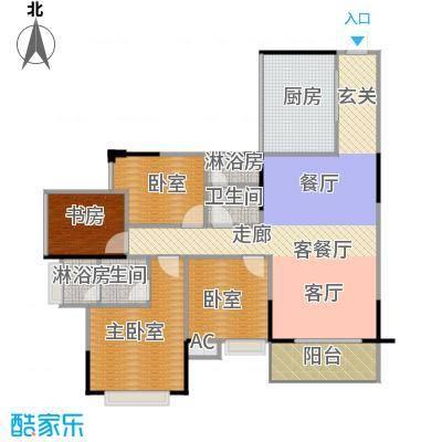 中惠香樟半岛97.00㎡5/6栋-06平面图户型1室1厅2卫1厨