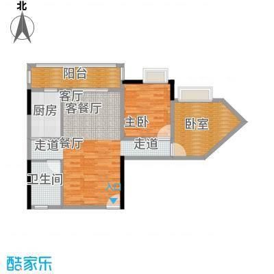 盛和新都会3栋标准层01户型1室1厅1卫1厨
