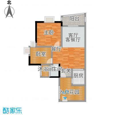 盛和新都会2栋标准层07、08户型1室1厅1卫1厨
