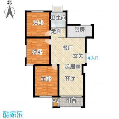 鸿运家园115.00㎡G户型3室2厅1卫QQ