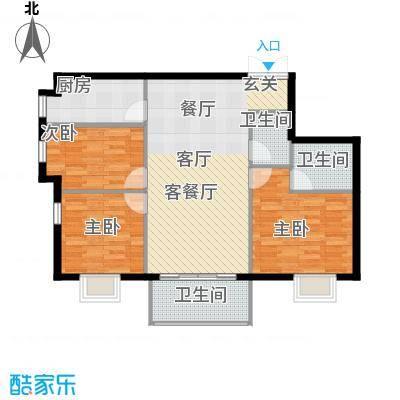 戛纳35号111.08㎡D5户型3室1厅3卫1厨
