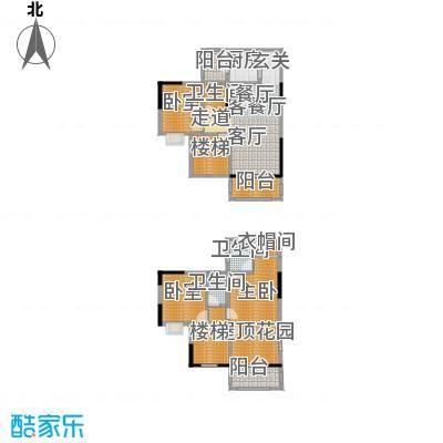 金田花园花域户型1室1厅3卫1厨