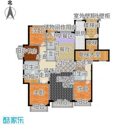 亿锋8号263.00㎡4室3厅4卫+工人套房户型