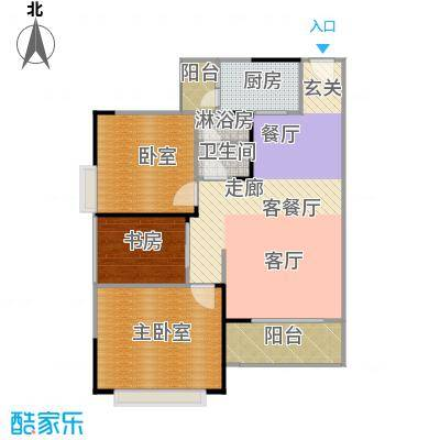 中惠香樟半岛82.13㎡10/11栋06户型1室1厅1卫1厨