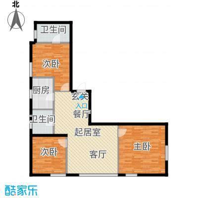 中合银帆国际98.00㎡98平米三室两厅两卫户型图户型3室2厅2卫