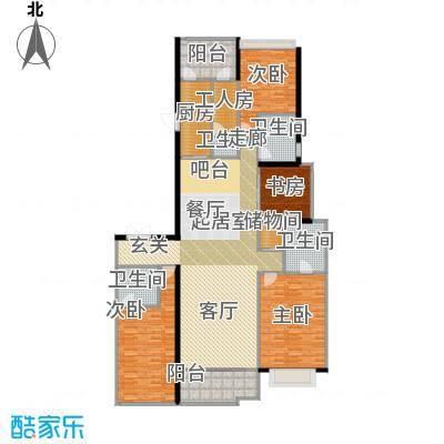 天銮247.30㎡A4栋02单元(25-31 34-47层)户型4室2厅3卫