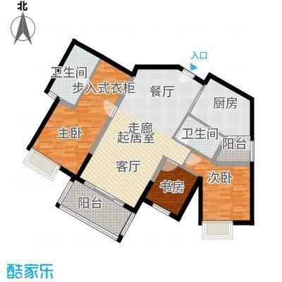 滨江水恋110.10㎡03户型3室2卫1厨