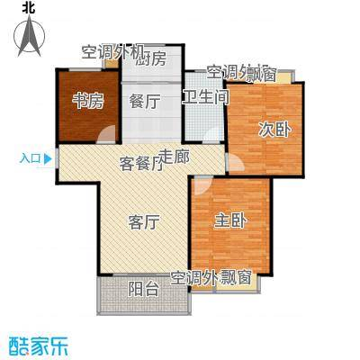 群星苑三居室户型3室1厅1卫1厨