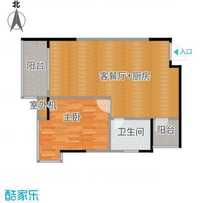 九龙1号55.59㎡户型10室