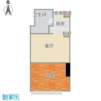 印象琶洲公寓四、五层0户型1室1卫
