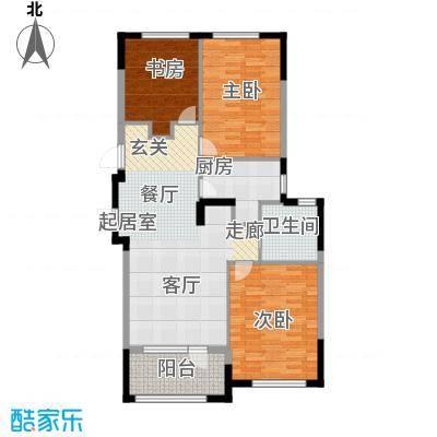 保亿丽景山98.24㎡D户型3室1卫1厨