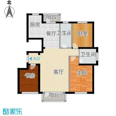 嘉恒国际122.48㎡户型2室1厅2卫