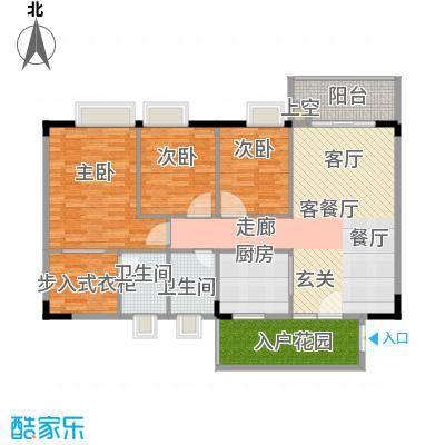 建安广场二期户型3室1厅2卫1厨