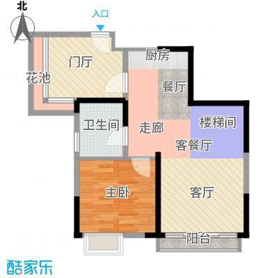 迪纳酒店公寓75.00㎡3-8栋01、02单元户型1室1厅1卫