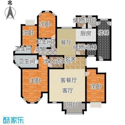 荣斌公园壹号268.50㎡A户型5室3厅3卫