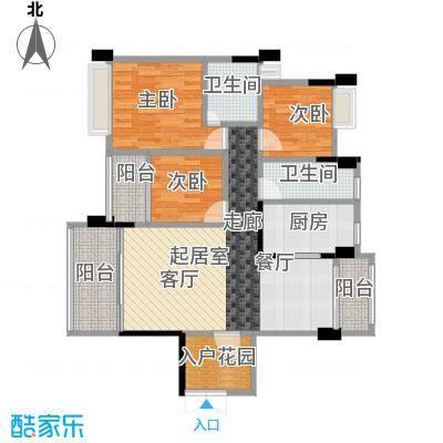 盈拓郦苑94.08㎡9栋2-16层01单元户型3室2卫1厨