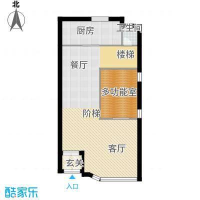 富士庄园三期樱花墅103.29㎡联排别墅39、45、47#楼一层户型5室5厅1卫