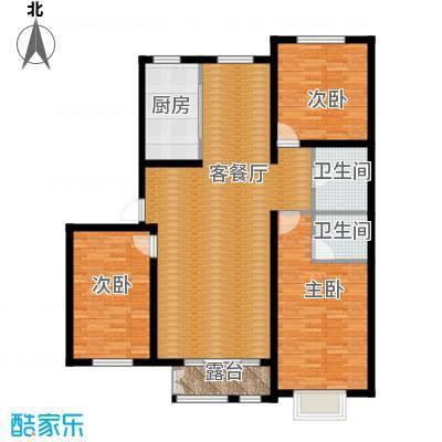 大学时光138.60㎡L-2户型3室2厅1卫
