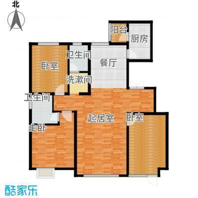 亿利傲东国际148.00㎡首层西单元户型3室2厅2卫