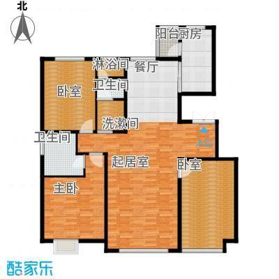 亿利傲东国际150.00㎡2-8层户型3室2厅2卫