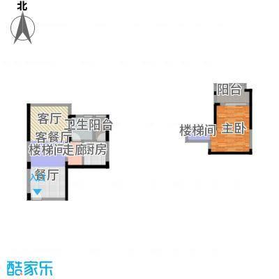 迪纳酒店公寓80.00㎡3-8栋04、05单元户型1室1厅1卫1厨