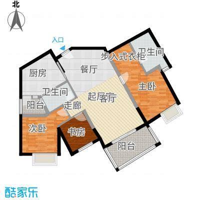 滨江水恋110.10㎡02户型3室2卫1厨