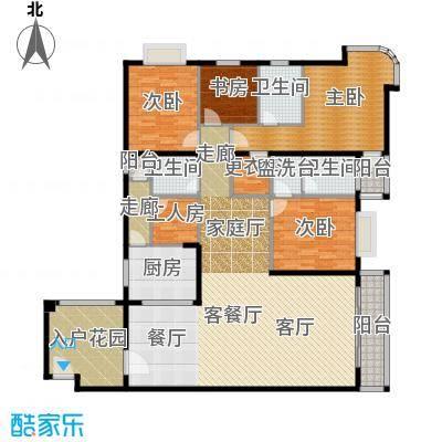 世纪新潮豪园180.21㎡标准层B户型4室1厅3卫1厨