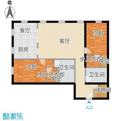 万国城moma148.00㎡F1户型2室3厅2卫