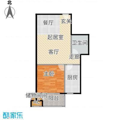 锦绣华城65.00㎡13#楼D户型
