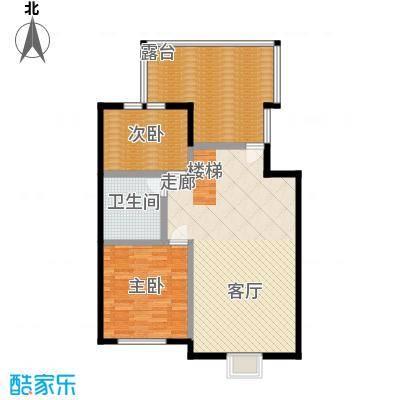 漫香林溪6号楼五层一单元502室户型2室1厅1卫