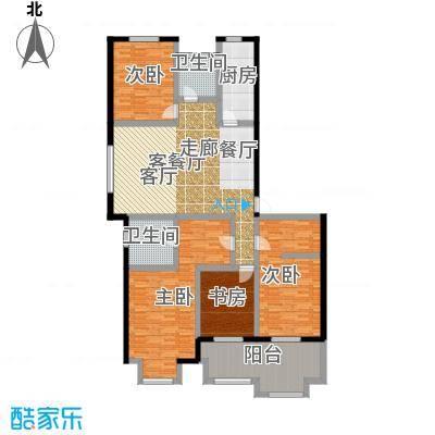 凯悦中心165.00㎡高层F户型4室2厅2卫