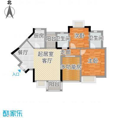 丰泰东海城堡98.00㎡4栋2单元05栋2单元06栋2单元07栋1单元0户型2室2卫1厨