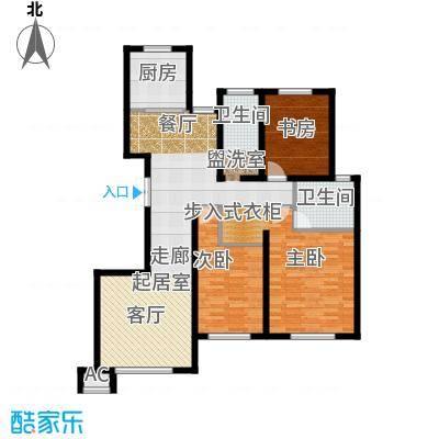发祥福邸户型3室2卫1厨