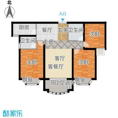 大名城115.00㎡B2户型40#、41#、42#、43#、58#楼3房2厅2卫115平米户型3室2厅2卫