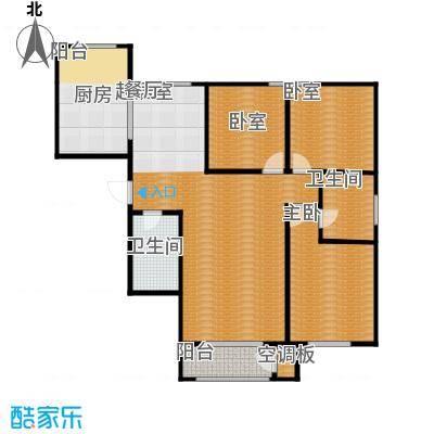 亿利傲东国际142.00㎡2-11层户型3室2厅2卫