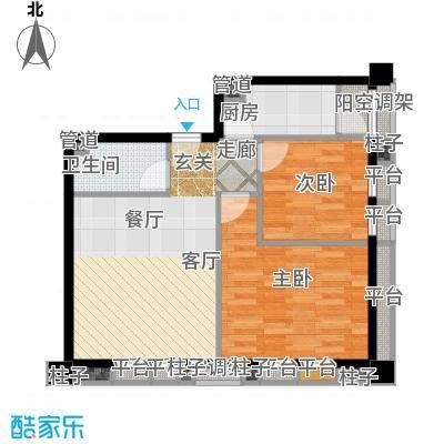 常春藤花园在售三期公寓E+生活阳台户型2室1厅1卫1厨