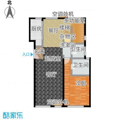 玺萌公馆AY1六层跃层下户型1室2卫1厨