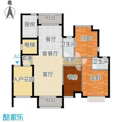 华建半岛豪庭136.00㎡户型3室1厅2卫1厨