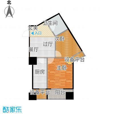 府上和平76.73㎡B6户型 两室一厅一卫户型2室1厅1卫