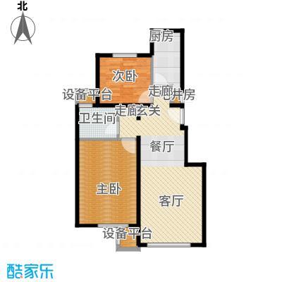 北京苏活4、5、6、7号楼G\\\\\\\'户型2室1卫1厨
