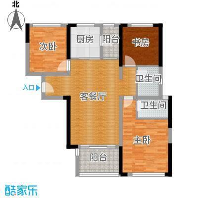 万科金域华府三期103.00㎡1-5号楼标准层02户型3室2厅2卫