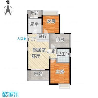 鑫苑鑫城91.00㎡B2户型2室2厅1卫