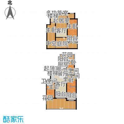 金科王府384.68㎡洋房1F 01室户型4室3厅3卫