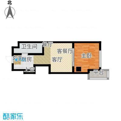 宝隆国际户型1室1厅1卫