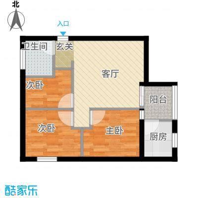 阳光雅筑户型3室1厅1卫1厨