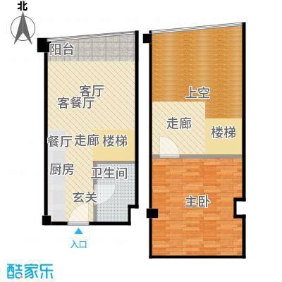 亚辰海派广场户型1室1厅1卫