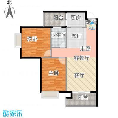 建安广场二期户型2室1厅1卫1厨